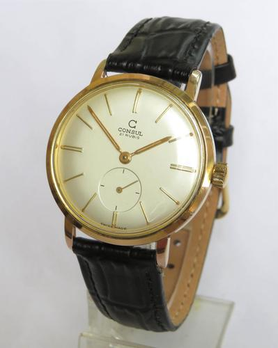 Gents 1960s Consul Wrist Watch (1 of 4)