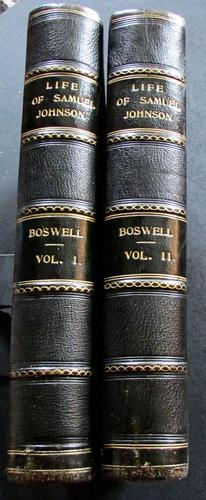 1907 The Life of Samuel Johnson by James Boswell, 2 Large Leather Volumes (1 of 5)