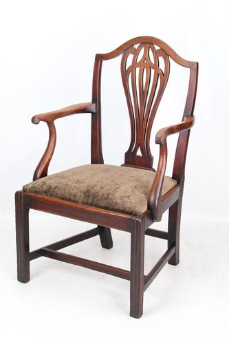 Antique Georgian Mahogany Desk Chair (1 of 12)
