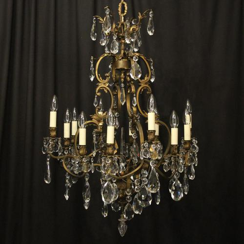 French Bronze 12 Light Antique Chandelier (1 of 10)