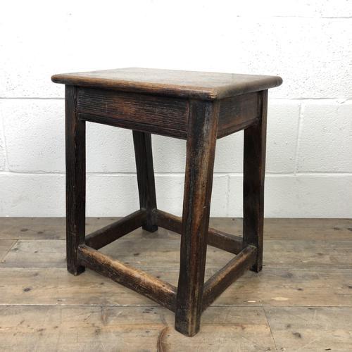 Antique 18th Century Oak Stool (1 of 10)