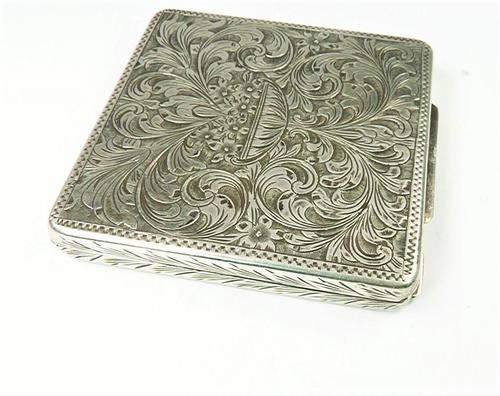 Vintage Italian 800 Silver Purse Mirror (1 of 9)