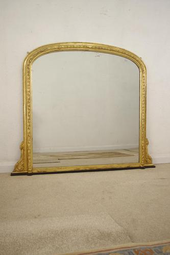 Gilt Arched Top Overmantle Mirror (1 of 12)