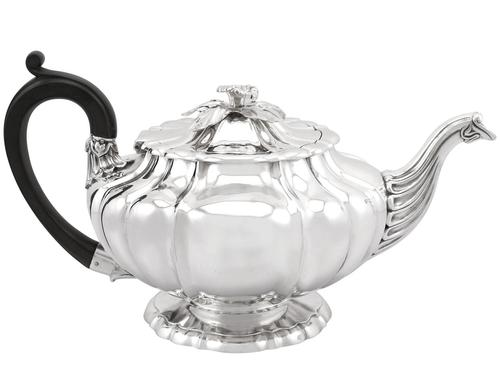 Sterling Silver Teapot by Paul Storr - Antique George IV 1827 (1 of 12)