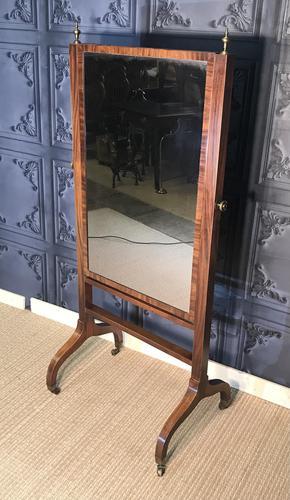 Regency Mahogany Framed Cheval Mirror (1 of 11)