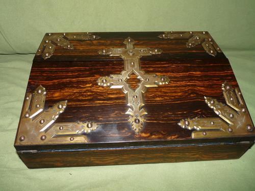 QUALITY Betjemann Coromandel Writing Box. 100% Original c1870 (1 of 15)