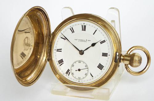 Antique Thomas Russell Full Hunter Pocket Watch (1 of 5)