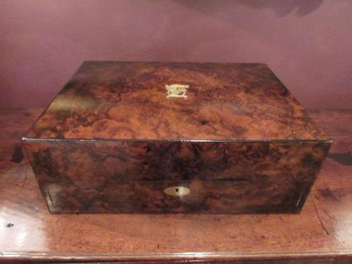 Superb Antique Burr Walnut London Jewel Box (1 of 8)