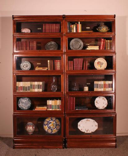 Pair of Globe Wernicke Mahogany Bookcases - 6 Elements (1 of 10)