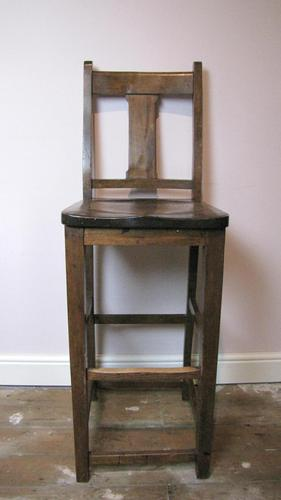 Antique Tall Clerks Desk Chair (1 of 4)