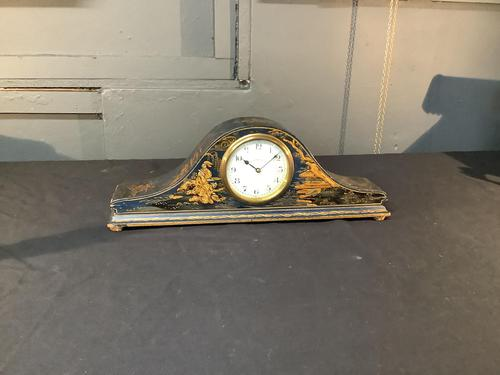 Edwardian Chinoiserie Lacquered Mantle Clock (1 of 3)