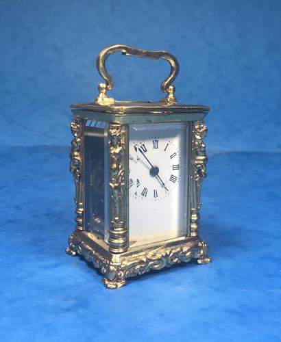 Victorian Miniature Brass Carriage Clock (1 of 11)