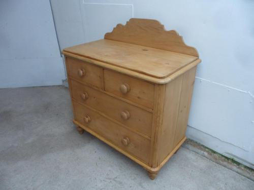 Pretty Waxed Victorian Antique Pine 4 Drawer Chest of Drawers (1 of 10)