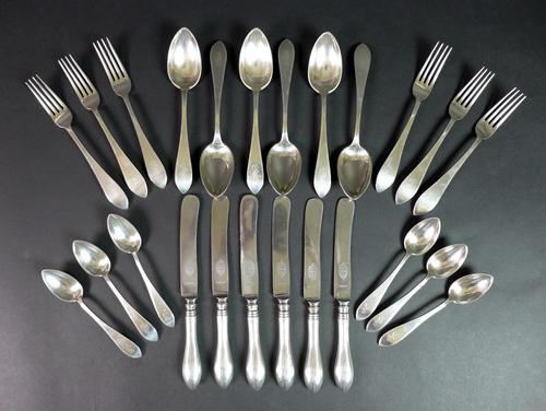 Suite of Late 19th Century Latvian 875 Grade Silver Swedish Steel Cutlery (1 of 8)
