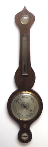 Good Mahogany 5 Glass Barometer Thermometer with Onion Top (1 of 10)