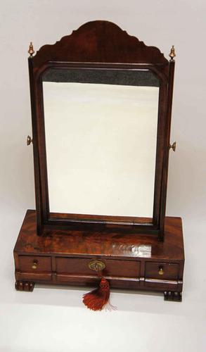 Regency  Mahogany  3 drawer dressing table mirror (1 of 17)