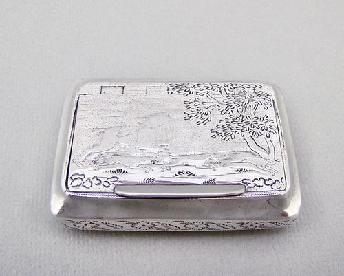 Exquisite Georgian Silver Snuff Box by William Pugh, Birmingham 1816 (1 of 6)