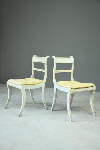 Pair of Regency Style Painted Dining Chairs (1 of 10)