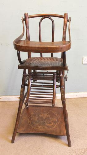 Antique Metamorphic Childs High Chair (1 of 10)