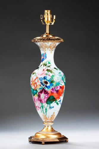 Single Opaline Ovoid Lamp (1 of 4)