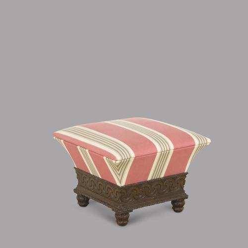 George IV Oak Ottoman Stool c.1825 (1 of 3)