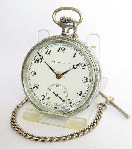 1930s Helvetia Koh-i-noor Pocket Watch (1 of 3)
