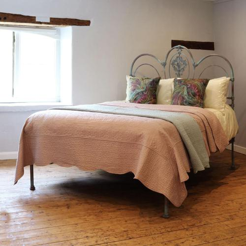 King Size Late Victorian Cast Iron Platform Bed (1 of 9)