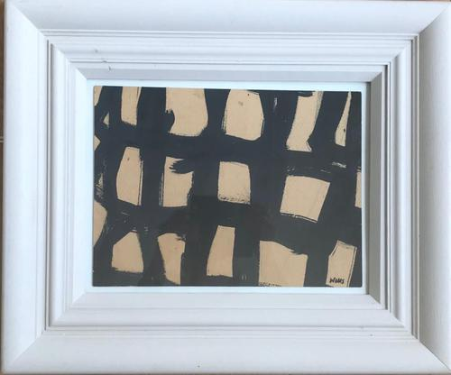 Original Watercolour 'Grid with incisions' by Donald Wells 1929-2014. Signed c.1968 (1 of 2)