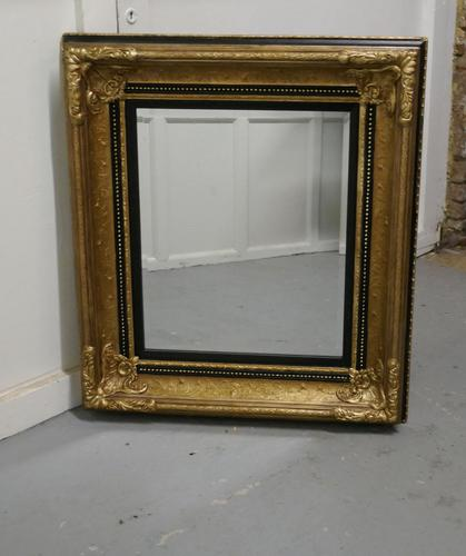 Rectangular Gilt and Black Rococo Wall Mirror (1 of 6)