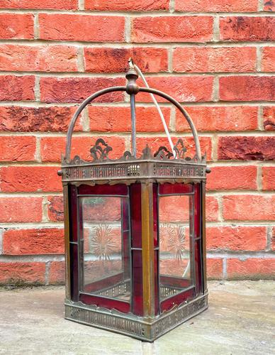 Victorian Stained Glass Lantern (1 of 5)