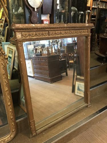 Victorian Gilt Mirror in Original Unrestored Condition (1 of 4)