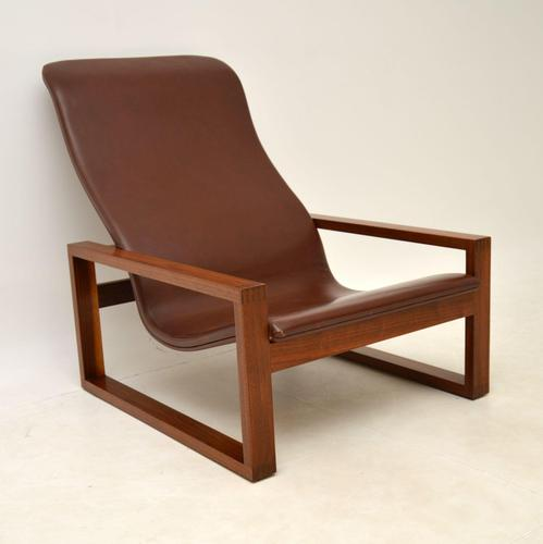 Vintage 1960's Leather & Rosewood Armchair (1 of 12)