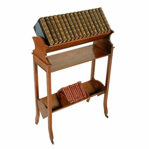 Edwardian Oak Book Trough (1 of 8)