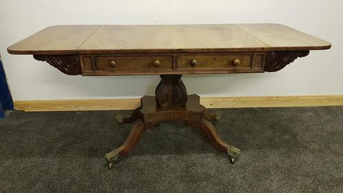 Antique Regency Mahogany Sofa Table (1 of 13)