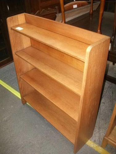 Light Oak Open Bookcase (1 of 2)