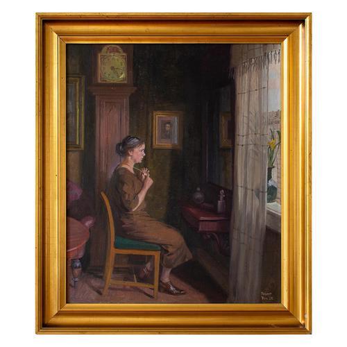Robert Panitsch, Interior Scene with Pensive Woman (1 of 10)
