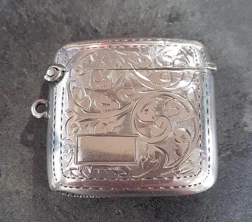 Sterling Silver Vesta Case - 1925 (1 of 4)