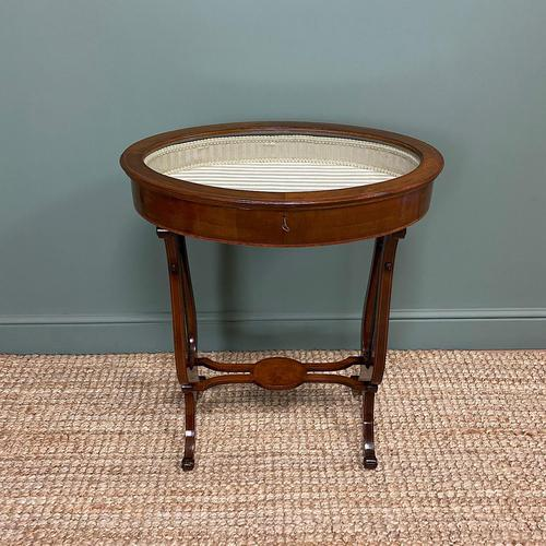 Stunning Victorian Mahogany Antique Bijouterie Table (1 of 7)