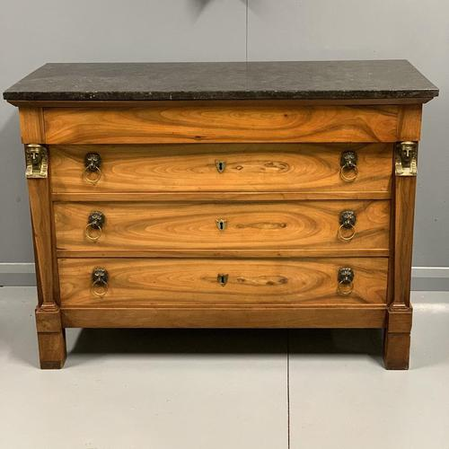 French Empire Commode with Marble Top (1 of 12)