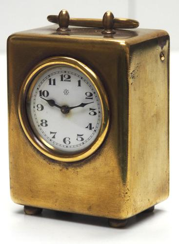Antique Travelling Miniature Carriage Clock – Wonderful Dial Alarm Feature by Junghans (1 of 6)