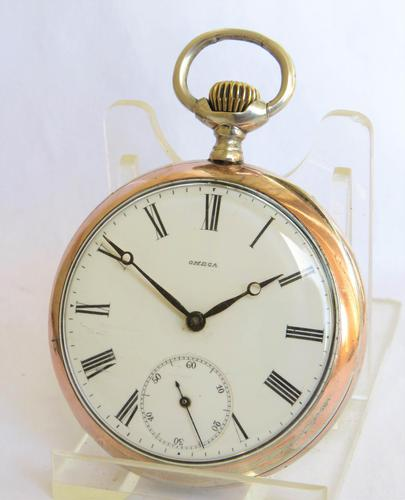 Antique silver Omega pocket watch. (1 of 5)