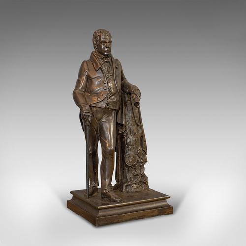 Antique Figure, Sir Walter Scott, Bronze, Statue, Poet, Victorian c.1880 (1 of 12)