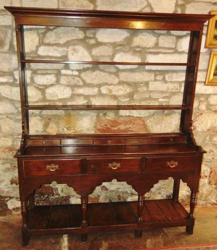 Georgian Oak Sussex Dresser with Rack (1 of 11)