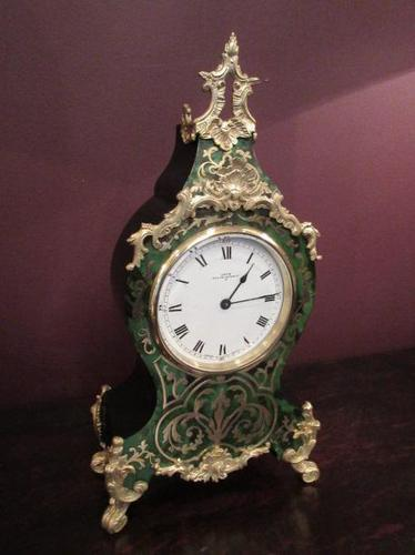 Antique French Boulle 8 Day Mantel Clock (1 of 8)