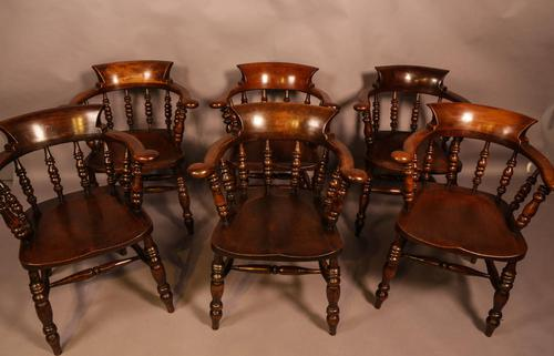 Harlequin Set of 6 Victorian Captains Chairs (1 of 10)