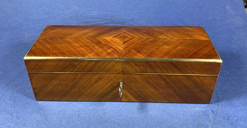 Victorian French Tulipwood Glove Box (1 of 15)