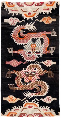 Antique Tibetan Dragon Rug (1 of 9)
