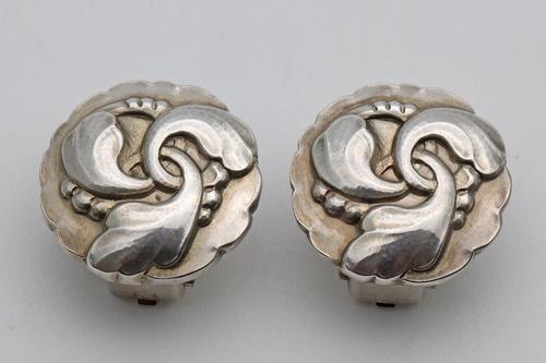 Rare Georg Jensen Silver Earrings (1 of 2)
