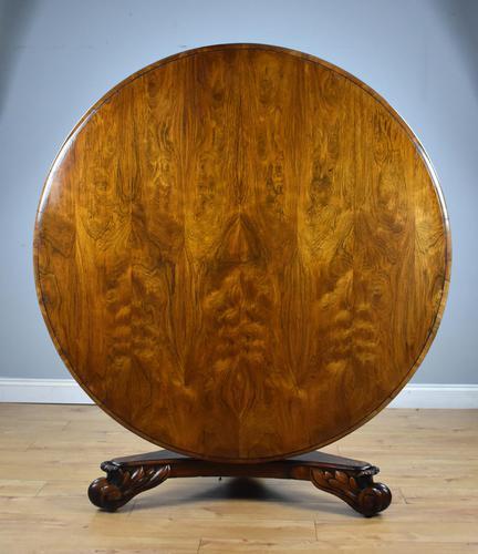 William IV Rosewood Circular Breakfast Table (1 of 11)