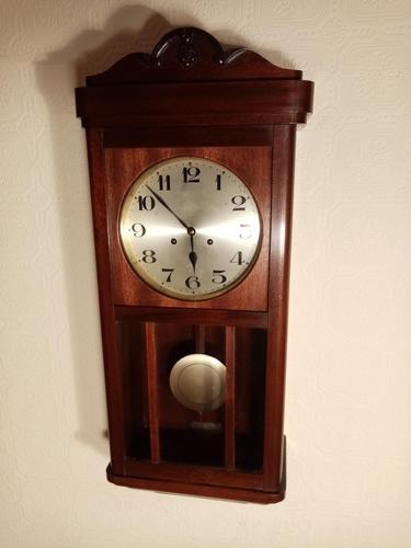 Arts & Crafts Period Mahogany Wall Clock (1 of 6)